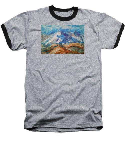 Rugged Terrain Baseball T-Shirt by Becky Chappell