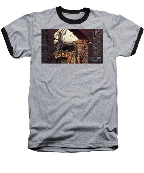 Ruin After Big Fire  Baseball T-Shirt