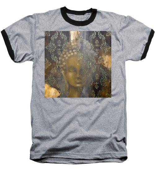 Baseball T-Shirt featuring the painting Ruined Palace Buddha by Dina Dargo