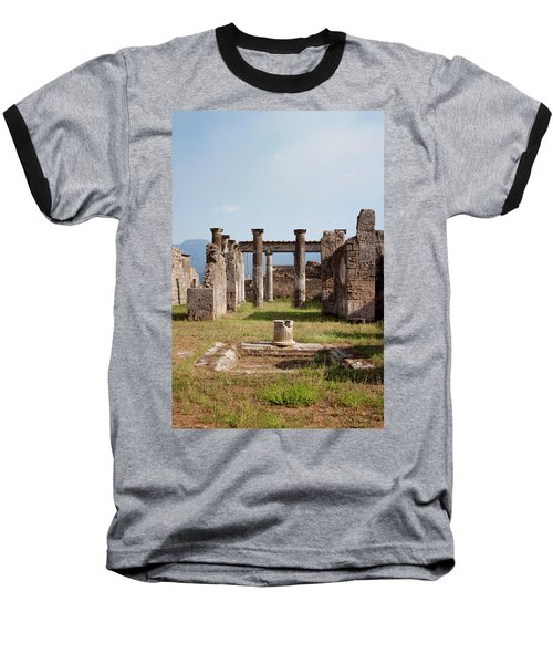Ruins Of Pompeii Baseball T-Shirt by Ivete Basso Photography