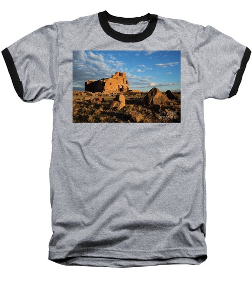 Ruins Of Yereruyk Temple Under Amazing Cloudscape, Armenia Baseball T-Shirt