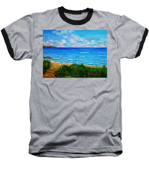 Rullsands Beach / Sweden-gaevle Baseball T-Shirt