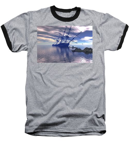 Baseball T-Shirt featuring the digital art Run Aground by Claude McCoy