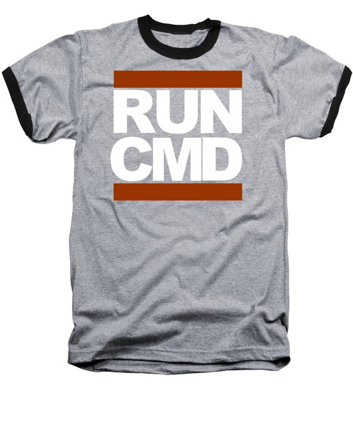 Run Cmd Baseball T-Shirt by Darryl Dalton