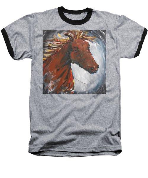 Run Like The Wind Baseball T-Shirt by Terri Einer