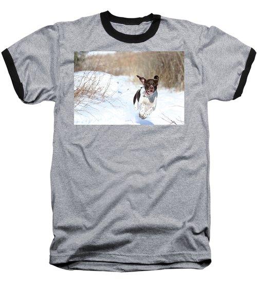 Run Millie Run Baseball T-Shirt by Brook Burling