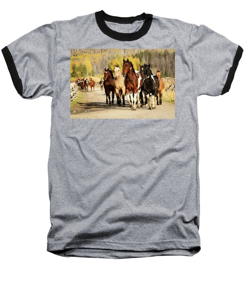 Baseball T-Shirt featuring the photograph Run Out by Sharon Jones