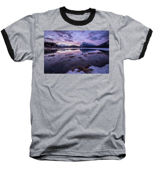 Rundle Mountain Skies Baseball T-Shirt