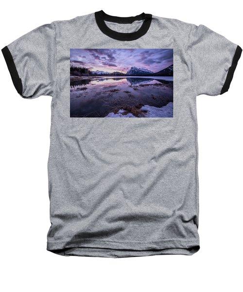 Rundle Mountain Skies Baseball T-Shirt