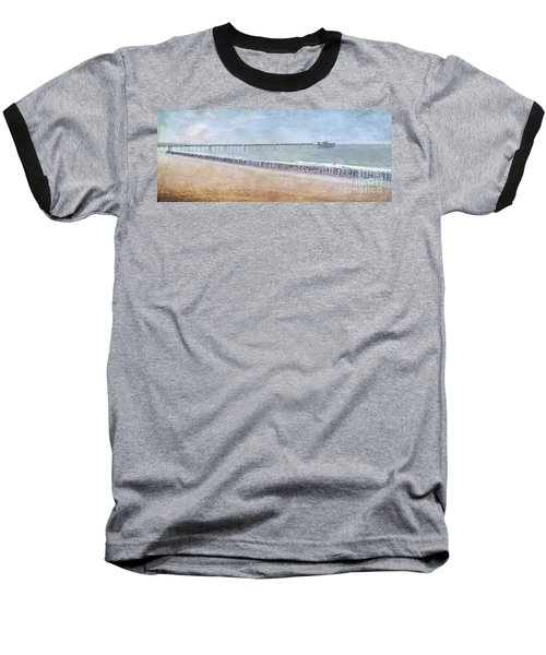 Baseball T-Shirt featuring the photograph Runners On The Beach Panorama by David Zanzinger