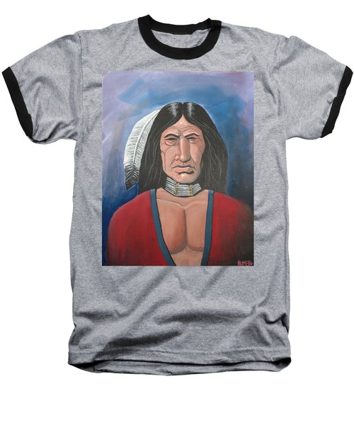 Baseball T-Shirt featuring the painting Running Bear by Antonio Romero