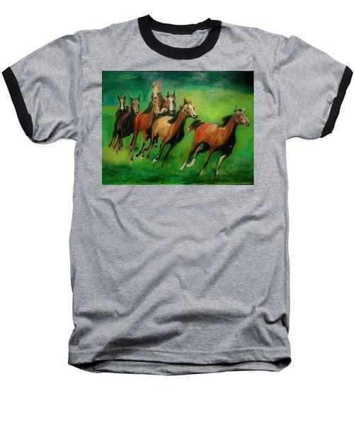 Running Free Baseball T-Shirt by Khalid Saeed