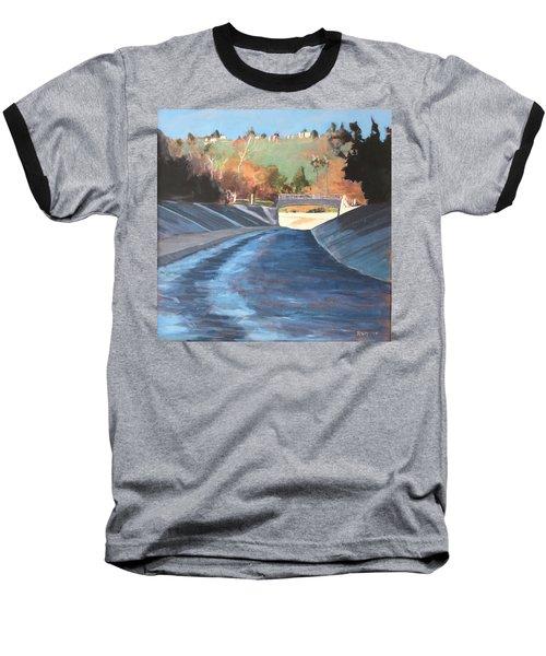 Running The Arroyo, Wet Baseball T-Shirt by Richard Willson