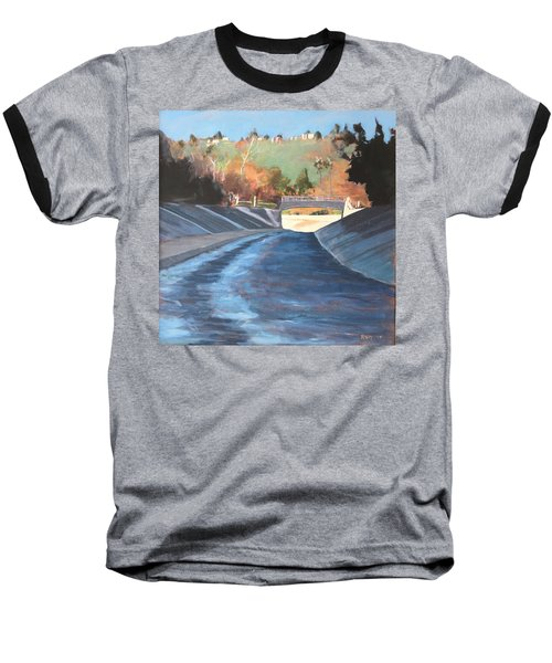 Running The Arroyo, Wet Baseball T-Shirt