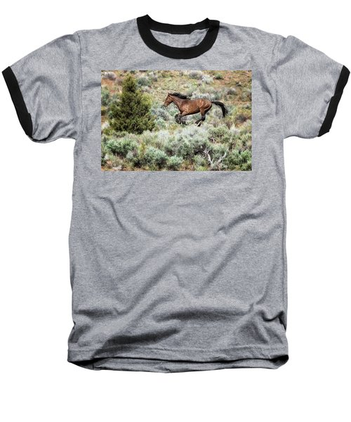 Baseball T-Shirt featuring the photograph Running Through Sage by Belinda Greb