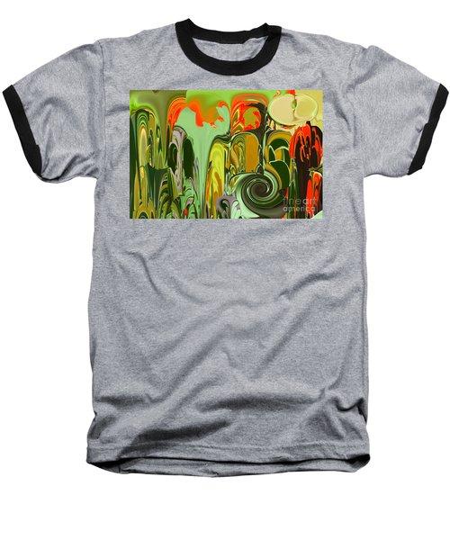 Running Through The Jungle Baseball T-Shirt