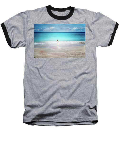 Running To The Sea Baseball T-Shirt