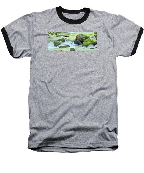 Baseball T-Shirt featuring the photograph Running Water by Wanda Krack