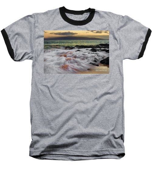 Running Wave At Keawakapu Beach Baseball T-Shirt