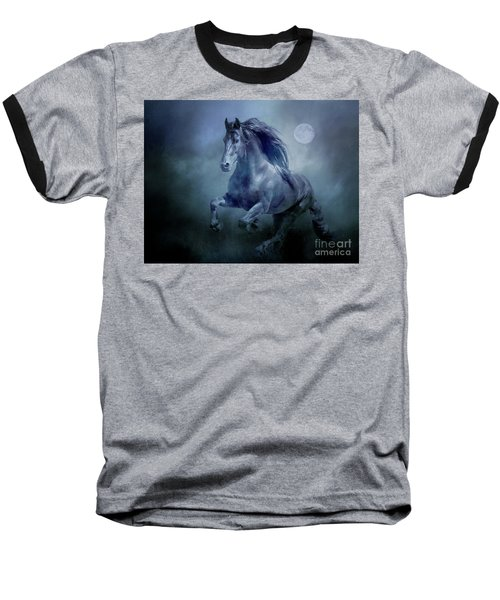 Running With The Moon Baseball T-Shirt