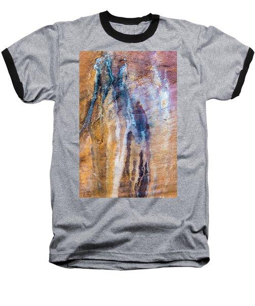 Baseball T-Shirt featuring the photograph Runoff Abstract, Bhimbetka, 2016 by Hitendra SINKAR