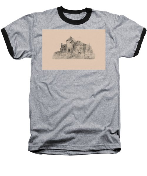 Rural English Dwelling Baseball T-Shirt