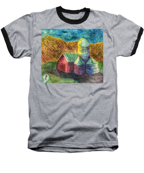 Baseball T-Shirt featuring the painting Rural Farm by Jame Hayes