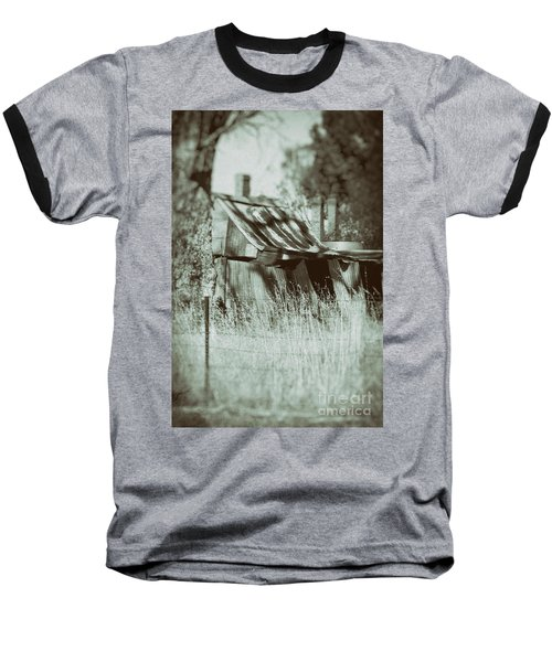 Baseball T-Shirt featuring the photograph Rural Reminiscence by Linda Lees
