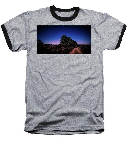 Rural Starlit Road Baseball T-Shirt