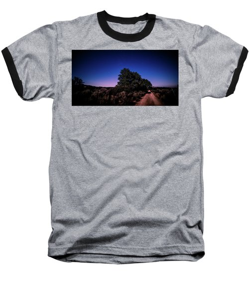 Rural Starlit Road Baseball T-Shirt