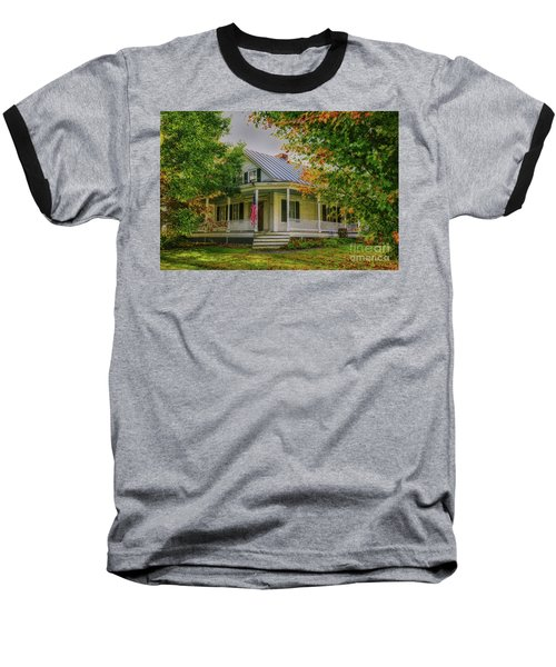 Baseball T-Shirt featuring the photograph Rural Vermont Farm House by Deborah Benoit