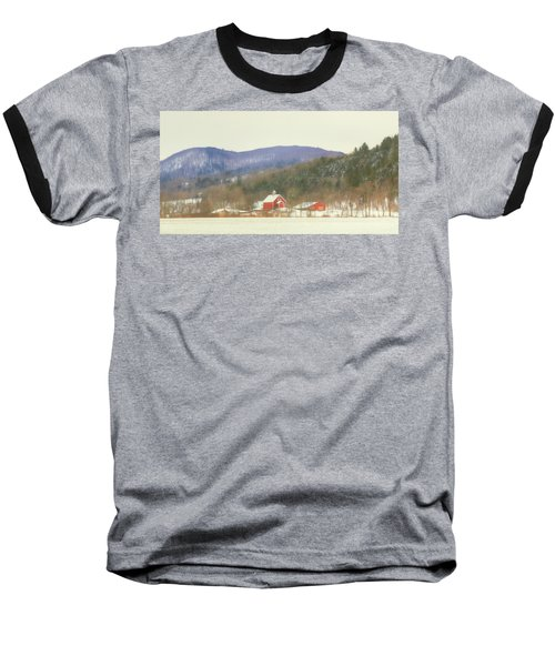 Baseball T-Shirt featuring the digital art Rural Vermont by Sharon Batdorf
