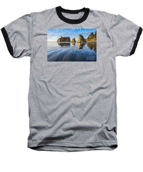 Ruby Beach Reflection Baseball T-Shirt