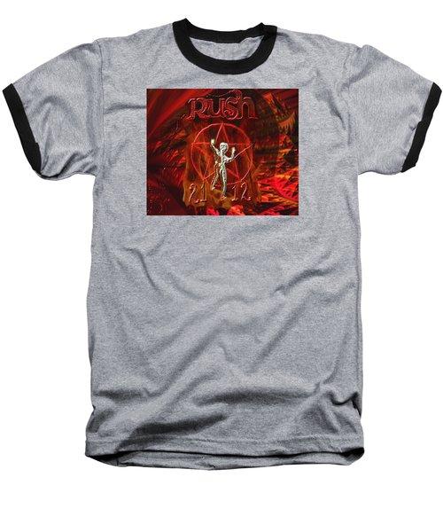 Rush 2112 Baseball T-Shirt by Kevin Caudill