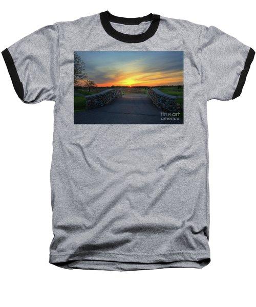 Rush Creek Golf Course The Bridge To Sunset Baseball T-Shirt