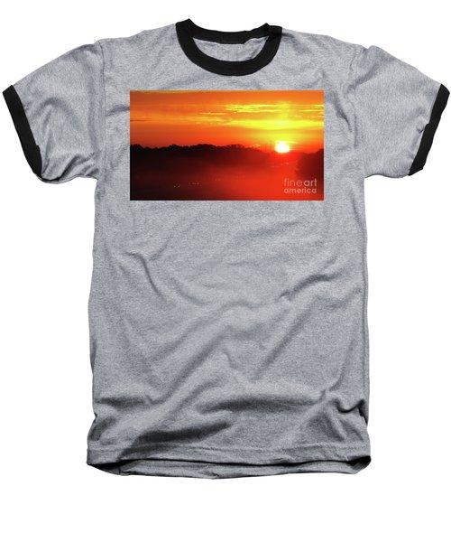 Rush Hour Begins At Sunrise I 94 To Madison Wisconsin Baseball T-Shirt