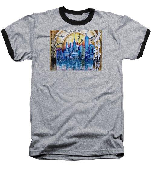 Rush Hour In New York  Baseball T-Shirt