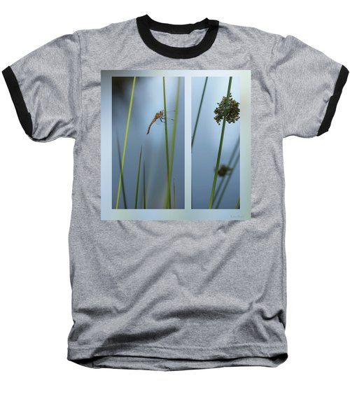 Rushes And Dragonfly Baseball T-Shirt