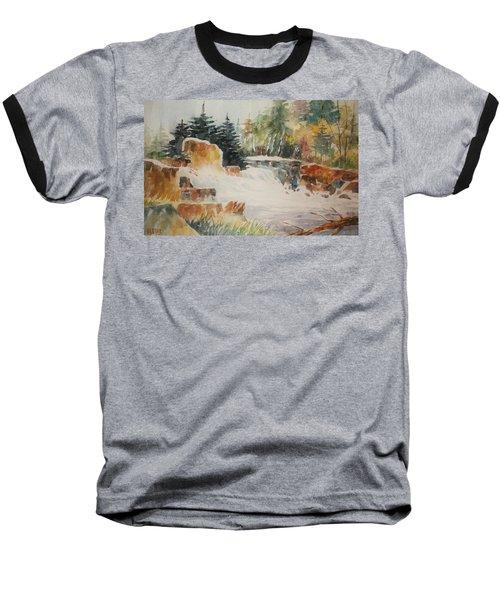 Rushing Streambed Baseball T-Shirt by Al Brown