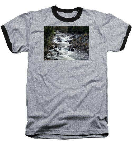 Rushing Water Baseball T-Shirt by Catherine Gagne