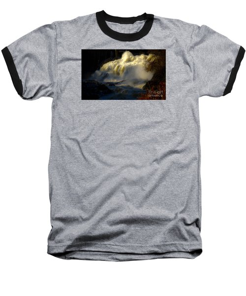 Rushing Water Baseball T-Shirt by Sherman Perry