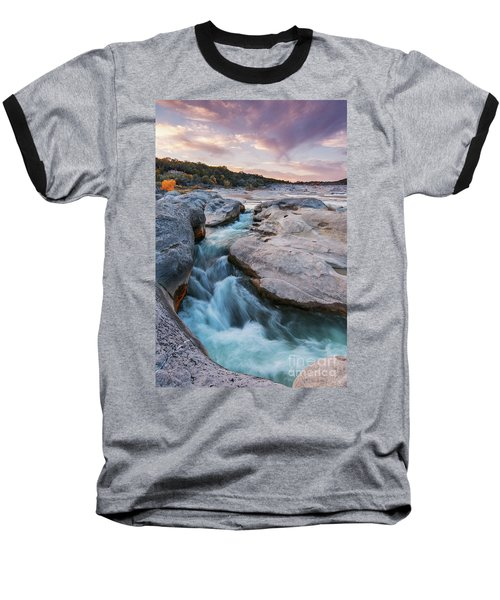 Rushing Waters At Pedernales Falls State Park - Texas Hill Country Baseball T-Shirt