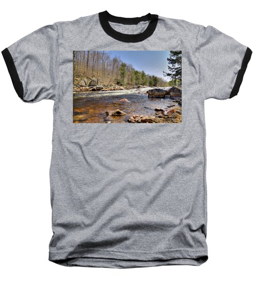 Baseball T-Shirt featuring the photograph Rushing Waters Of The Moose River by David Patterson