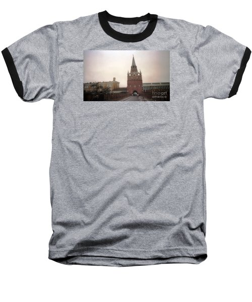 Russia Kremlin Entrance  Baseball T-Shirt by Ted Pollard