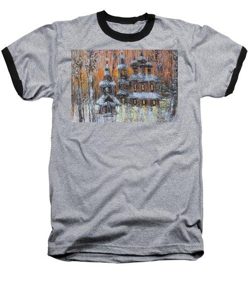 Russian Church Under Snow Baseball T-Shirt