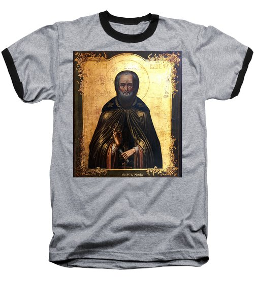 Russian Icon Baseball T-Shirt by Victor Minca