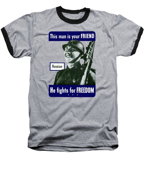 Russian - This Man Is Your Friend Baseball T-Shirt