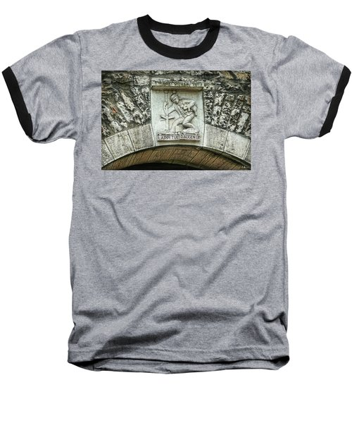 Baseball T-Shirt featuring the photograph Russian To Swiss Dialect Translation by Hanny Heim