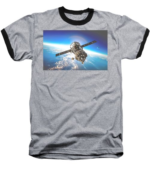 Majestic Blue Planet Earth Baseball T-Shirt by Maciek Froncisz