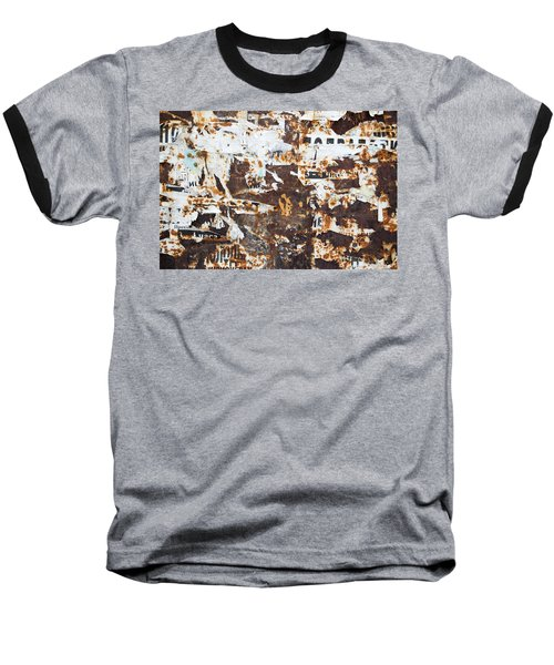 Baseball T-Shirt featuring the photograph Rust And Torn Paper Posters by John Williams